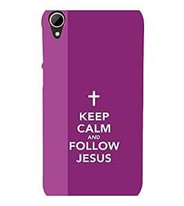 printtech Keep Calm Jesus Back Case Cover for HTC Desire 828 dual sim