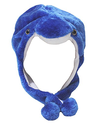 Royal Blue Dolphin Hat Animal Dress Children Costume Free Size (One Size)