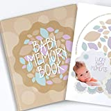 Baby Memory Book And Keepsake For Baby's First Year - A Scrapbook / Photo Album / Journal For Both Boy And Girl - White Pages