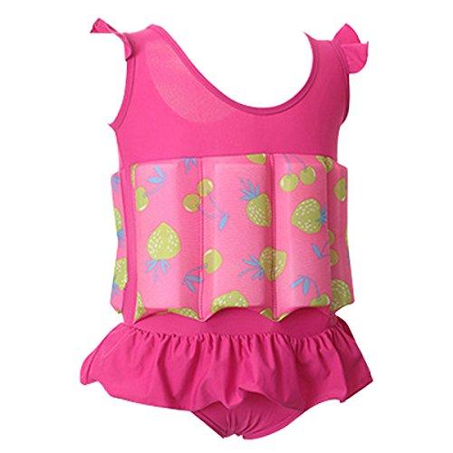 Bebone Kinder Badeanzug mit Schwimmhilfe Jungen Mädchen Bademode (XL(100-110cm,15-20kg), Farbe (Badeanzug 1 Alt Jahr)