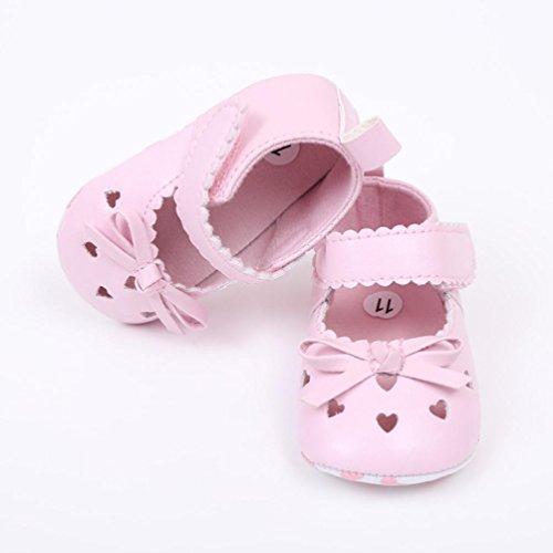 Igemy 1 Paar Neugeboren Infant Baby Girls Krippe Schuhe Soft Sole Anti-Rutsch Sneakers Bowknot Schuhe Rosa