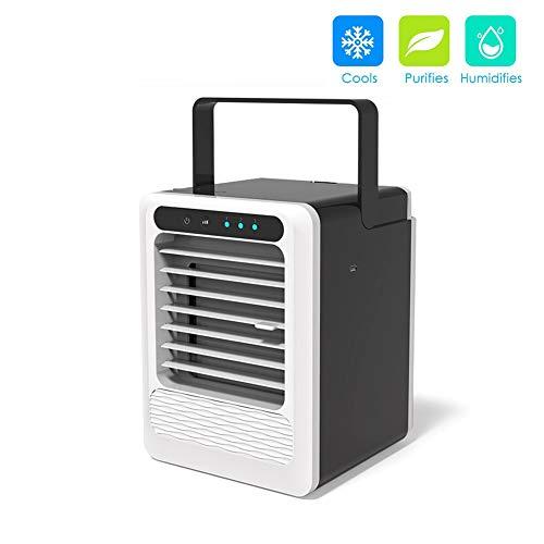 LHZHG 3in1 Mini Air Luftkühler Tragbare USB-Air Cooler Mobile Fan AC-Einheit Persönliche Luftraum Luftbefeuchter Luftreiniger mit 3 Geschwindigkeiten -