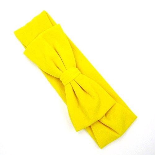 LUFA Baby-elastisches Haar-Band-Haar-Band bownot neugeborenes Baby, Kleinkind Kinder Gelb