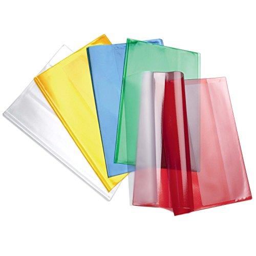 Aurora store.it 10 copriquaderni maxi ppl a4 copertine quadernoni trasparenti colorati favorit