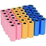 Yommy® Sacs Sac a crotte dejections canines chien pour litiere de chien 24 rolls 360 unité YM-0281
