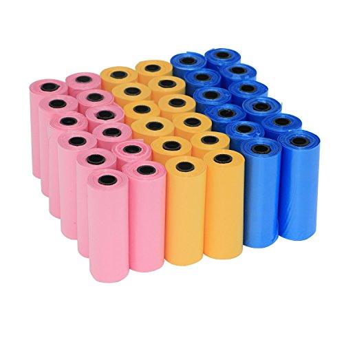 Yommy Sacchetti per bisogni dei cani 24/48/72 rotoli rolls, confezione da 360/720/1080 YM-0281 (24 Roll / 360 unità )