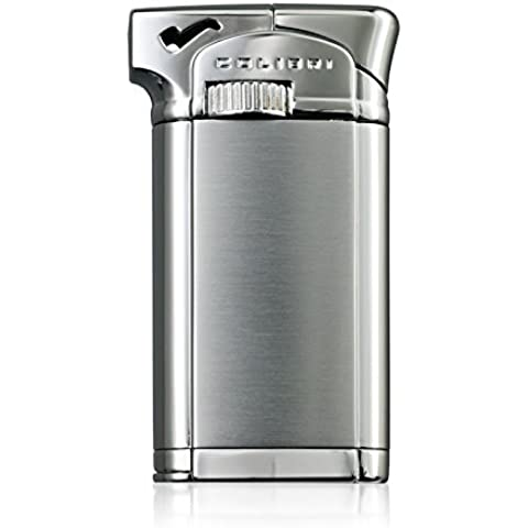 Colibri Connaught ll Chrome Soft Flame Pipe Lighter Luxury Gift Boxed by Colibri
