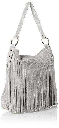 Bags4Less Tipi, Borsa tote donna grigio Grigio scuro L Grigio (Grigio)