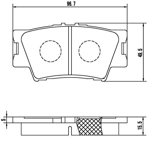 Preisvergleich Produktbild Mapco 6890 Bremsbeläge, 4 Stück