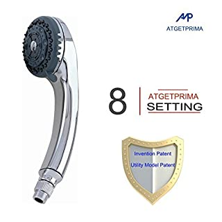 ATGETPRIMA 8 Function Ceramic Core Hand Held Shower Head A15C