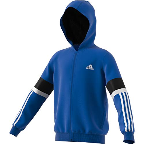 adidas Performance Equipment Kapuzenjacke Kinder blau/weiß, 176 Adidas Warm Ups
