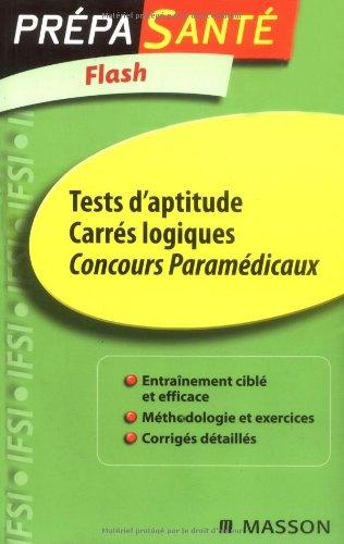 Tests d'aptitude Carrés logiques Concours Paramédicaux