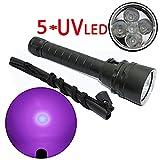 E-kinds UV-Tauchtaschenlampe, 5 x UV-LED-Ultraviolettlicht-wasserdichte lila Tauchlaternenlampe für...