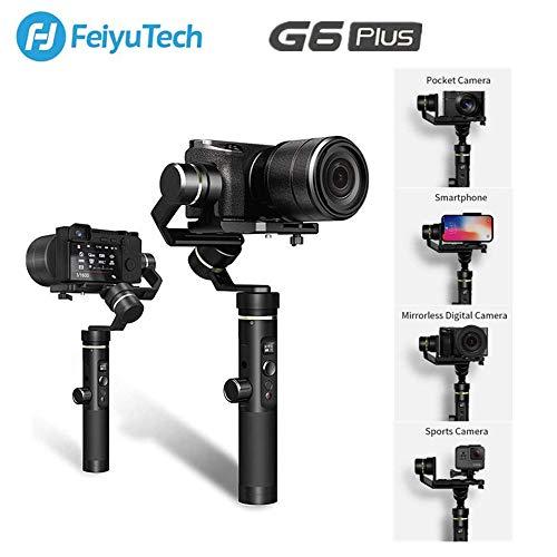 Feiyu G6 Plus 3-Axis Handheld Gimbal Estabilizador de Cardán para Cámara sin Espejo,Cámara de Bolsillo, GoPro, Smartphone,Carga útil 800g