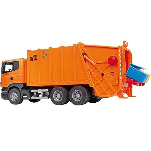 Bruder-3560-Camin-de-la-basura-Scania-color-naranja