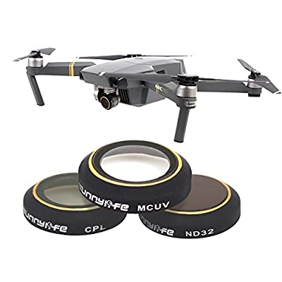 TIME4DEALS DJI Mavic Pro Lens Filter Kit ND4 ND8 ND16 ND32 MCUV CPL, Multi-coated Filter Set