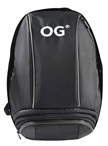 OG Online&Go Mochila Moto Negra de 25-35L, Correa Casco Moto, Mochila Antirrobo Impermeable, Portátil, Reflectante, Camping, Senderismo, Trekking, Montaña, Ciclismo, Viaje, Gimnasio
