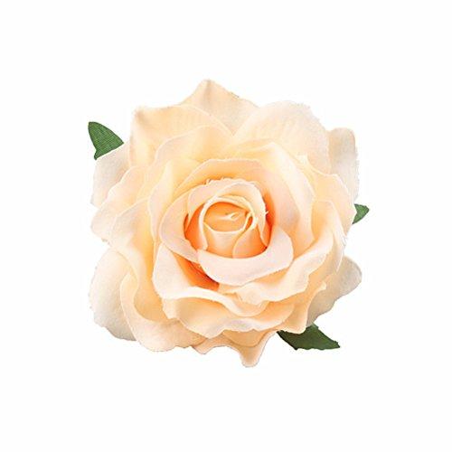 Frcolor Rose Haarspange Hochzeit Braut Haar Blume Deko (Champagner)