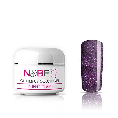 Glitter Farbgel Purple Glam 5ml-Glitzergel Color Gel