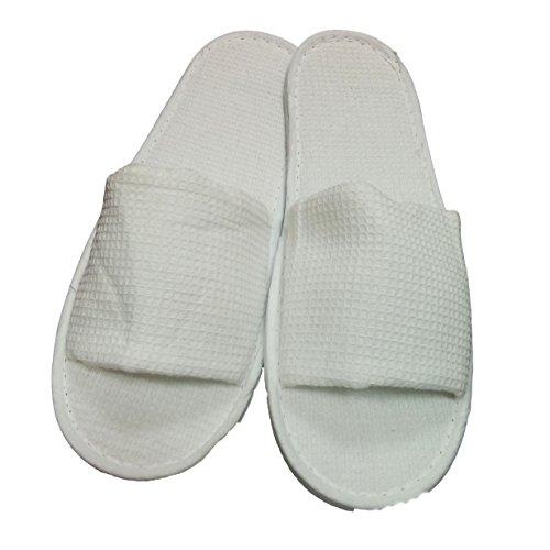 5 Paar Open Toe Waffle Slippers (Toe Waffel)