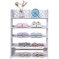 2ad1fc13c8a5f7 GOTOTOP Étagère à Chaussures à 5 Niveaux, étagère à Chaussures, étagères de  présentation,