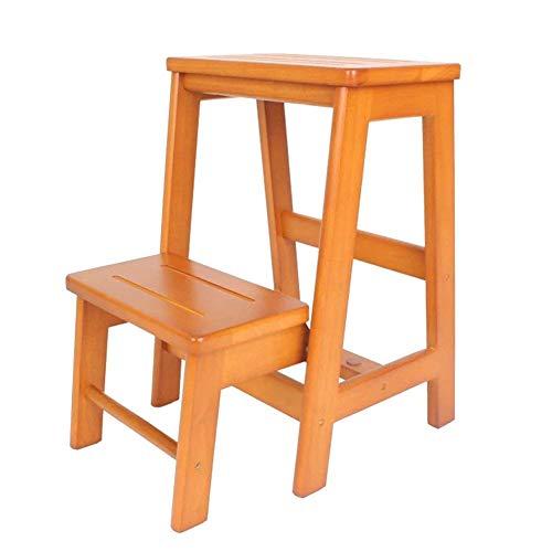 Trittschemel Für Erwachsene Treppe Hocker Holz Tier 2 Step Küche Haushalt Hocker Multi-Funktions-Leiter Tragbare / H1 / h1
