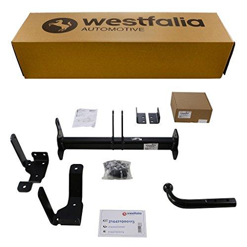 Starre Westfalia Anhängerkupplung für Antara (BJ 05/2011-02/2015) im Set mit 13-poligem fahrzeugspezifischen Westfalia Elektrosatz