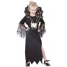 P'TIT Clown re87166 - Costume enfant veuve noire, L 10/12 ans