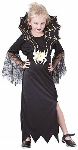 P'TIT Clown re87166 - Costume enfant veuve noire, L 10/12 ans (Veuve Noire Kostüm)