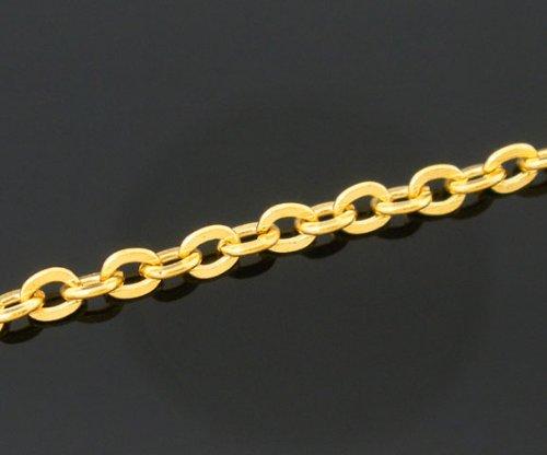SiAura Material  - 10m vergoldete Gliederkette 3x2,5mm Schmuckkette