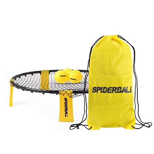 Ocean 5 Spiderball Set, Ball-Spiel mit Netz, 3 Bällen und Tragetasche - zum Spielen im Park, Garten, Strand oder im Haus - für Kinder und Erwachsene