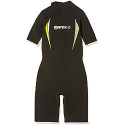 Mares Kinder Shorty Tauchanzug Manta Junior, Black/Lime, 10-11 Jahre, 412533-1