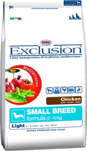 Exclusion Cane Light Chicken Small 800 Gr