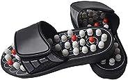 Tjackson Massage Shoes, Acu-Point Slippers Accupressure Massage Foot Massager Flip Flop Sandals for Women Men