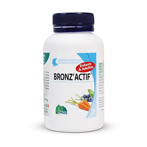 Mgd -Bronzactif - Prépare Active et Fixe le Bronzage - 120 Gélules