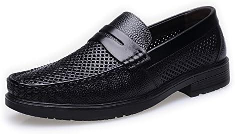 Ruanyi Zapatos de los Holgazanes de los Hombres, Suela Suave Forrada Cuero Genuino de la Piel de Vaca Genuina...