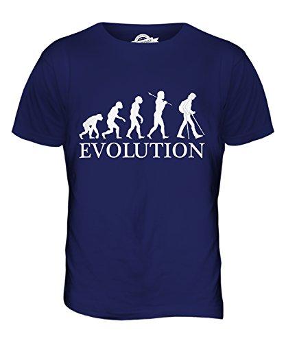 CandyMix Unterarmgehstütze Evolution Des Menschen Herren T Shirt Navy Blau