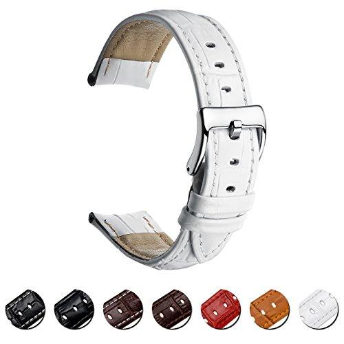 MEGALITH Uhrenarmband Echtes Leder Uhrband 16mm 18mm 20mm 22mm Watch Armband Premium Lederband für Herren Damen mit Edelstahl Metall Schließe