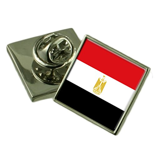 Select Gifts Ägypten Flagge Anstecknadel Abzeichen Massiv Silber 925
