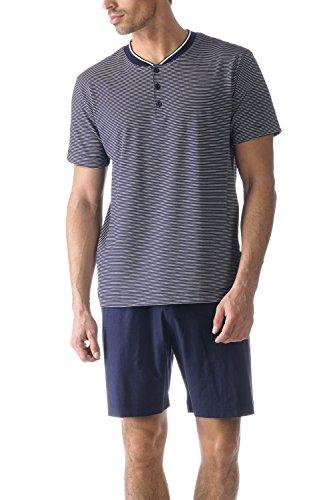 Mey Herren Pyjama kurz 13974, Yacht Blue, 54