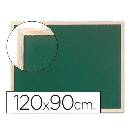 Q-Connect Pizarra Verde Marco De Madera 120X90 Cm Sin Repisa
