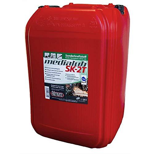 25 Liter KETTLITZ-Medialub SK-2T Alkylatbenzin für 2 Takt, Zweitaktmotoren, KWF Geprüft