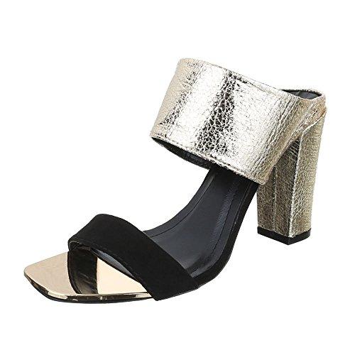 Ital-Design, Sandali donna oro nero