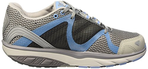 MBT Damen Leasha Trail 6 Lace Up Outdoor Fitnessschuhe Mehrfarbig (Mystic Gray/Blue Sky)