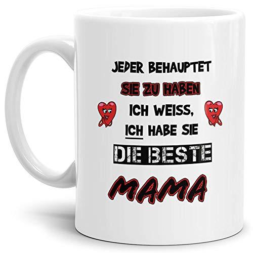 Tasse für die Eltern Mama / Geschenk/Mutti / Mami/Mutter-Tag/Weiss
