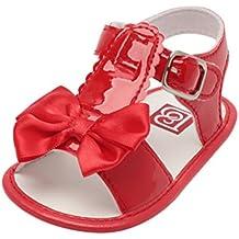 Zapatos de Verano para Bebé ���� Yesmile Sandalias Huecas de Proa Bowknot Zapatillas de Cuna Suave Suela Antideslizante Zapatos Gancho y Lazo