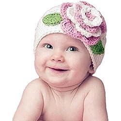 Gorros del Bebé,Xinan Invierno Niño Niña Infantil Sombrero Flor Lana