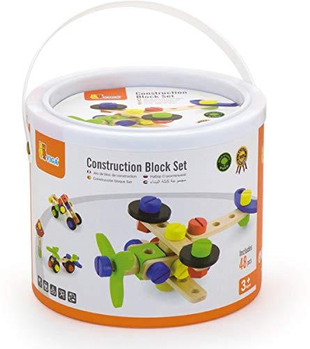 Eitech GmbH Viga Toys-Set Costruzioni in Legno-48Pezzi