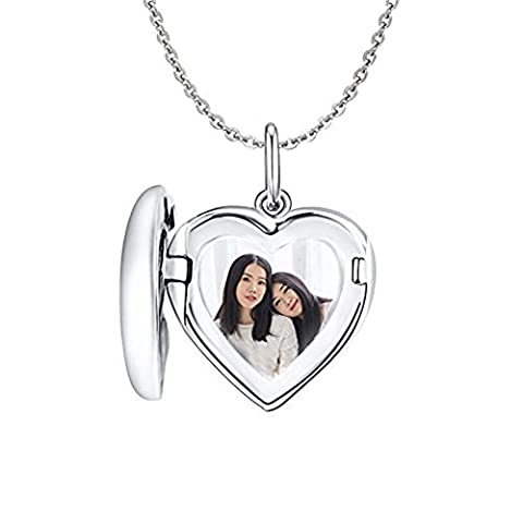 HACOOL 925 Sterling Silber Custom made Medaillon Halskette Anhänger 16