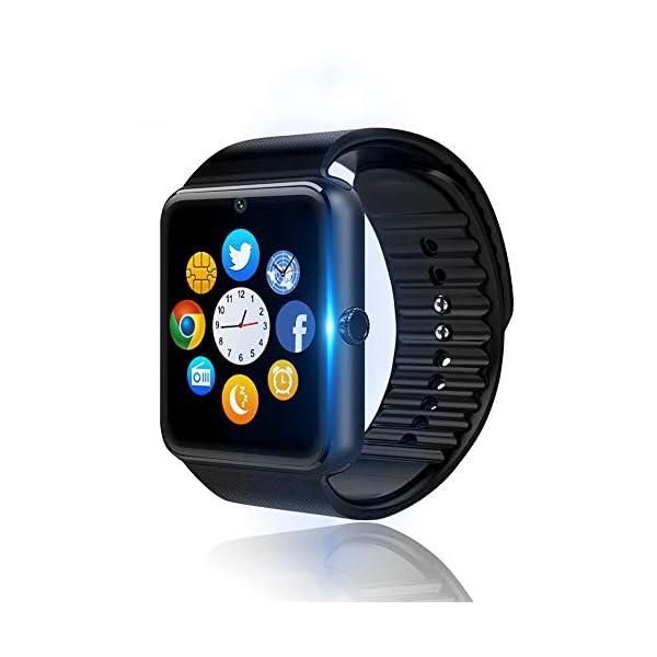 Reloj Inteligente, Smartwatch Bluetooth y Ranura para Tarjeta SIM con Rastreador de Actividad, Podómetro, Cronómetros Reloj de Fitness, Reloj Iinteligente Hombre Mujer niños Android/iOS Phone 8